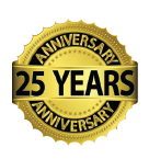 Corporate Cleaning Services 25 Years of Service seal